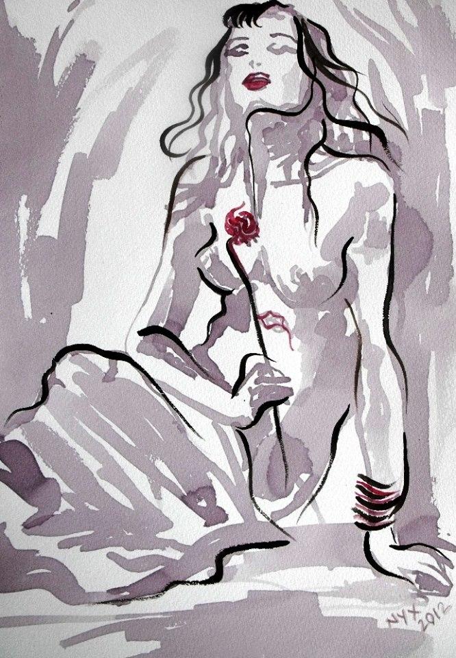 Nyx Wine Painting Last Rose