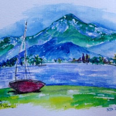 lake como art by Nyx Martinez