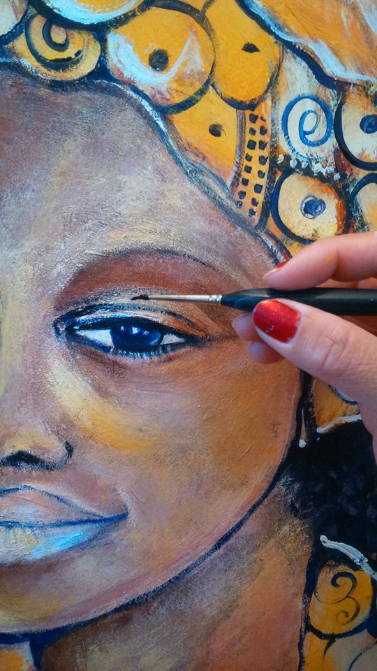 Nyx Martinez Painting for Rwanda charity