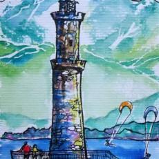 gera lario lighthouse Lake Como painter