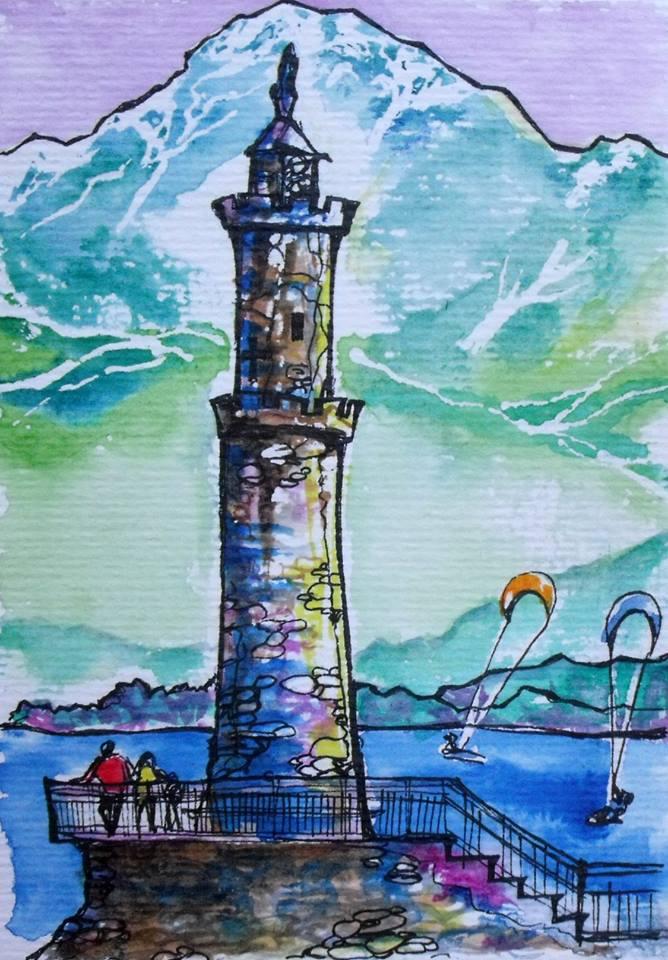 Lake Como Light house by Nyx