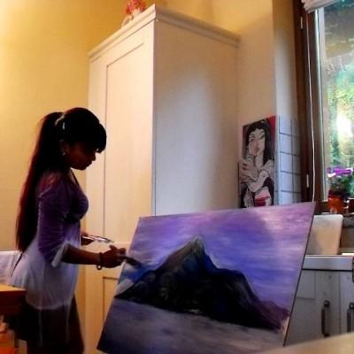 Nyx Martinez wine painter