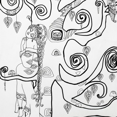 coloring page adults Nyx Martinez