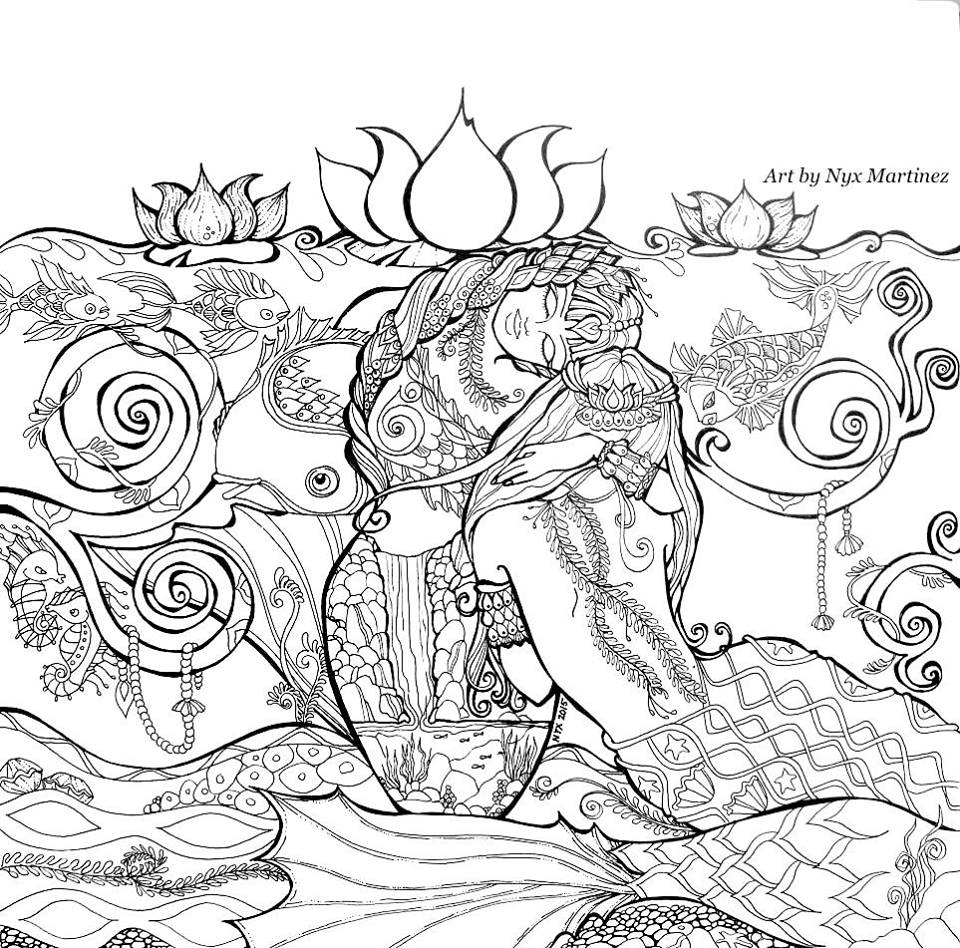 adult coloring page nyx