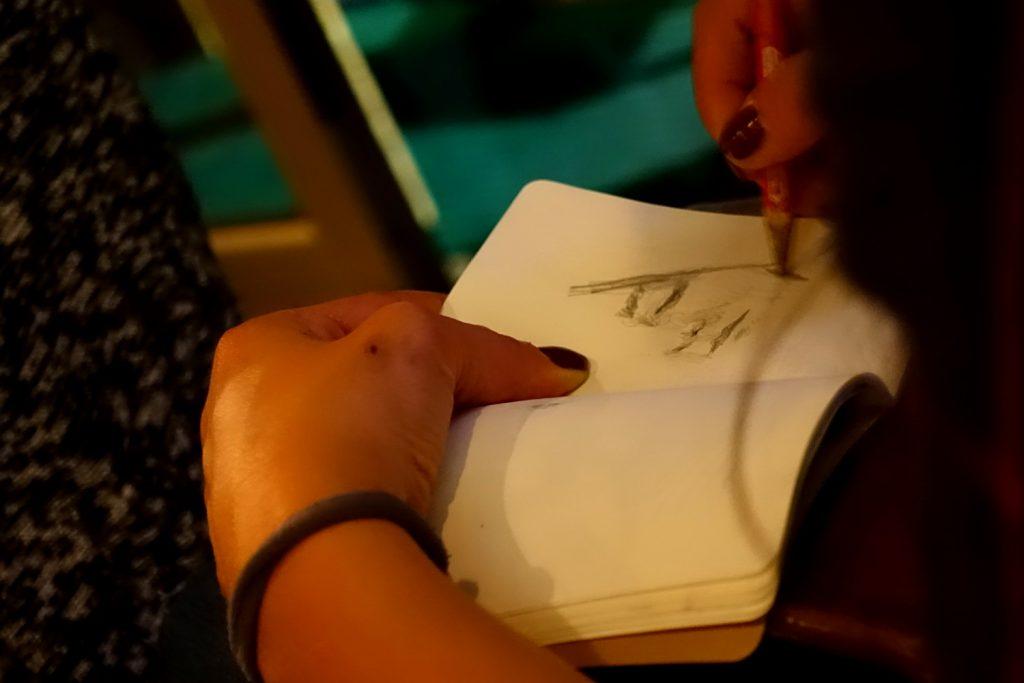 Marianna sketching