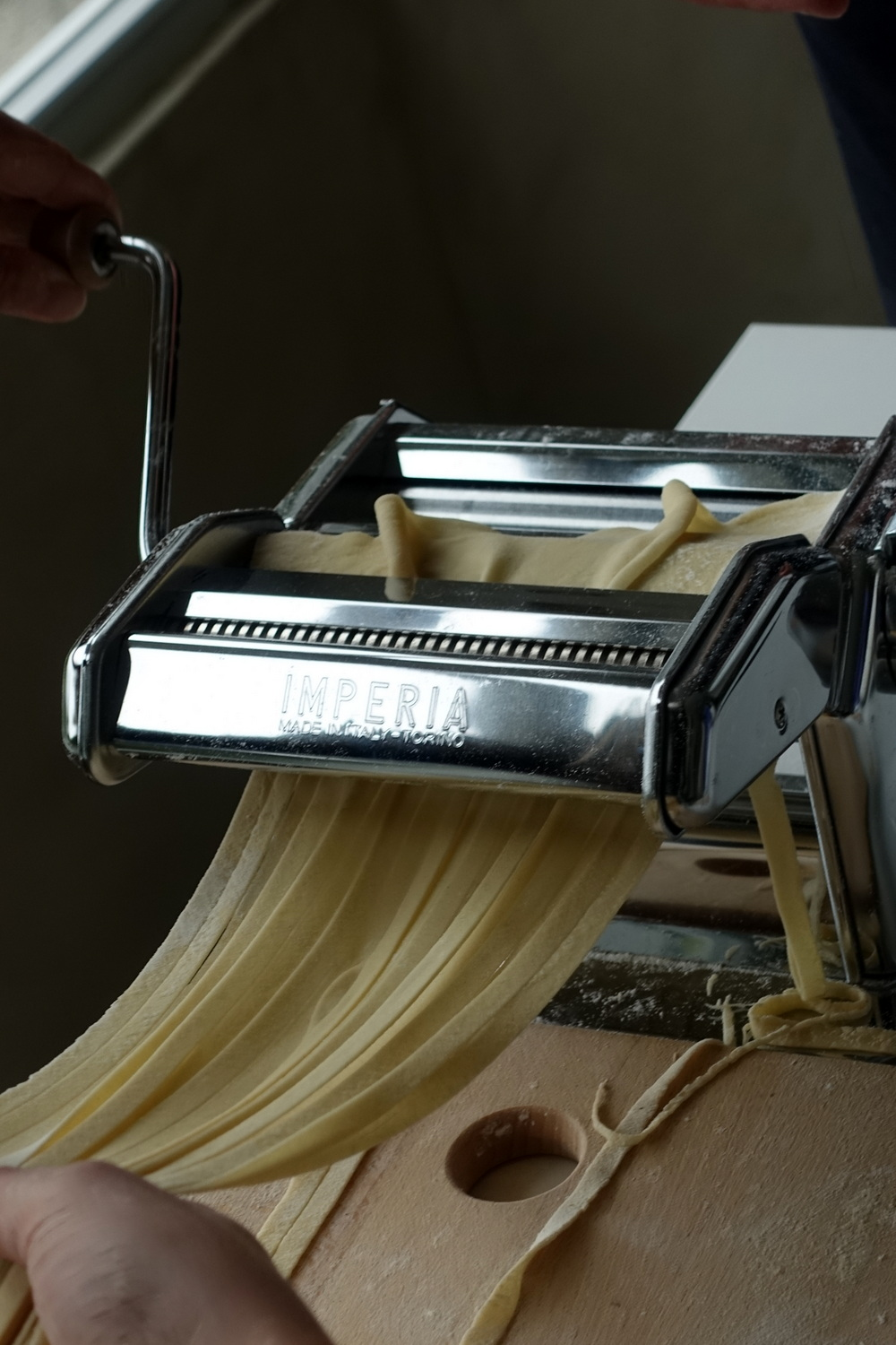 Pasta making in Lake Como
