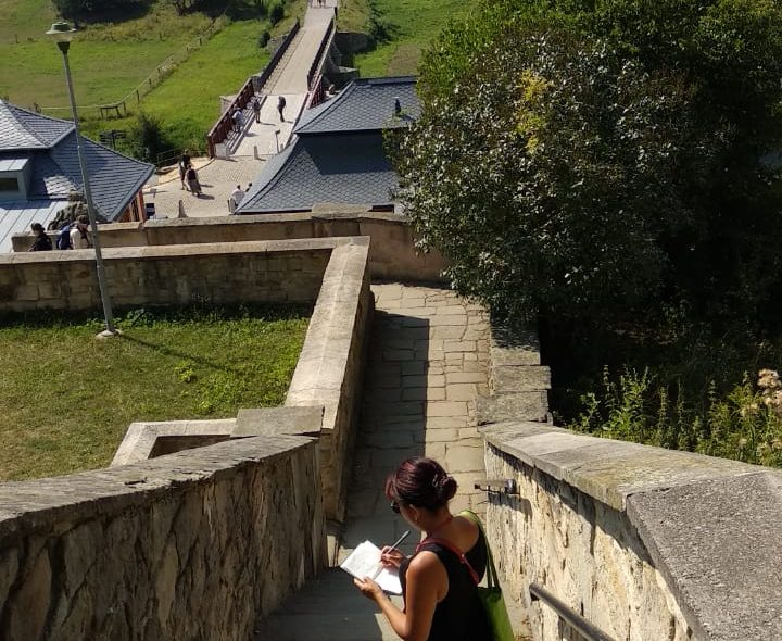 Sketching in Kuks, a Heritage Site in Northern Bohemia. Photo by Jyotsna Ramani